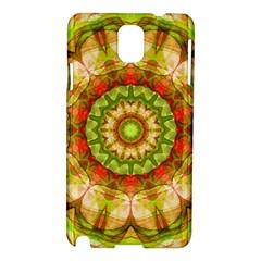 Red Green Apples Mandala Samsung Galaxy Note 3 N9005 Hardshell Case by Zandiepants