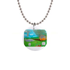 Atlantean Super Jet Crash 11,000 B C  Button Necklace by creationtruth