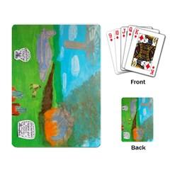 Atlantean Super Jet Crash 11,000 B C  Playing Cards Single Design by creationtruth
