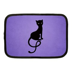Purple Gracious Evil Black Cat Netbook Sleeve (medium) by CreaturesStore