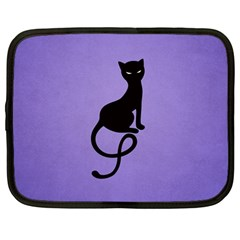 Purple Gracious Evil Black Cat Netbook Sleeve (large)