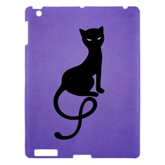 Purple Gracious Evil Black Cat Apple Ipad 3/4 Hardshell Case