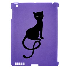 Purple Gracious Evil Black Cat Apple Ipad 3/4 Hardshell Case (compatible With Smart Cover)