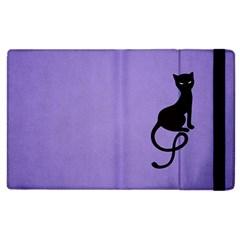 Purple Gracious Evil Black Cat Apple Ipad 2 Flip Case