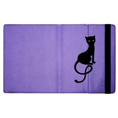 Purple Gracious Evil Black Cat Apple Ipad 3/4 Flip Case
