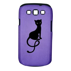 Purple Gracious Evil Black Cat Samsung Galaxy S Iii Classic Hardshell Case (pc+silicone)