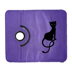 Purple Gracious Evil Black Cat Samsung Galaxy S  Iii Flip 360 Case