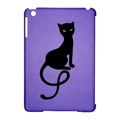 Purple Gracious Evil Black Cat Apple Ipad Mini Hardshell Case (compatible With Smart Cover)