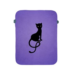Purple Gracious Evil Black Cat Apple Ipad Protective Sleeve