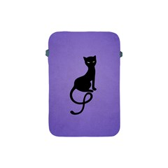 Purple Gracious Evil Black Cat Apple Ipad Mini Protective Sleeve