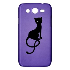 Purple Gracious Evil Black Cat Samsung Galaxy Mega 5 8 I9152 Hardshell Case