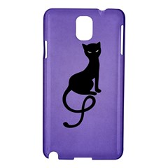 Purple Gracious Evil Black Cat Samsung Galaxy Note 3 N9005 Hardshell Case