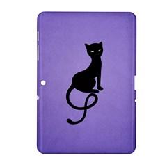 Purple Gracious Evil Black Cat Samsung Galaxy Tab 2 (10 1 ) P5100 Hardshell Case