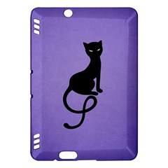 Purple Gracious Evil Black Cat Kindle Fire Hdx 7  Hardshell Case