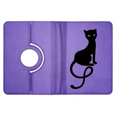 Purple Gracious Evil Black Cat Kindle Fire Hdx 7  Flip 360 Case