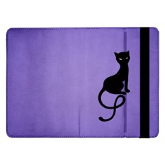 Purple Gracious Evil Black Cat Samsung Galaxy Tab Pro 12 2  Flip Case