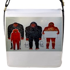 1 Neanderthal & 3 Big Foot,on White, Removable Flap Cover (small) by creationtruth