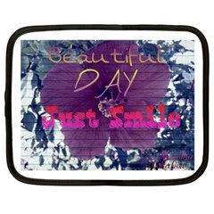 Beautiful Day Just Smile Netbook Sleeve (xxl)