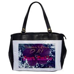 Beautiful Day Just Smile Oversize Office Handbag (one Side) by SharoleneCollection