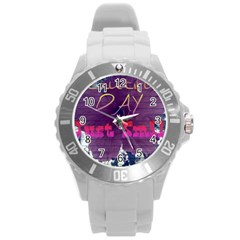 Beautiful Day Just Smile Plastic Sport Watch (large) by SharoleneCollection