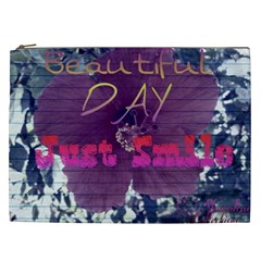 Beautiful Day Just Smile Cosmetic Bag (xxl)