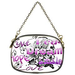 Live Peace Dream Hope Smile Love Chain Purse (one Side) by SharoleneCollection