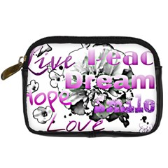 Live Peace Dream Hope Smile Love Digital Camera Leather Case by SharoleneCollection