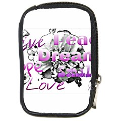 Live Peace Dream Hope Smile Love Compact Camera Leather Case by SharoleneCollection