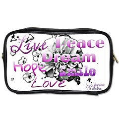 Live Peace Dream Hope Smile Love Travel Toiletry Bag (two Sides) by SharoleneCollection