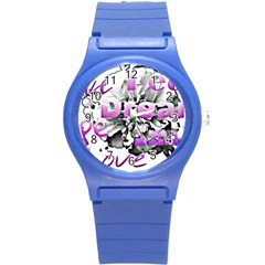 Live Peace Dream Hope Smile Love Plastic Sport Watch (small) by SharoleneCollection