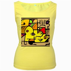 Fighting The Fog Women s Tank Top (yellow) by FunWithFibro