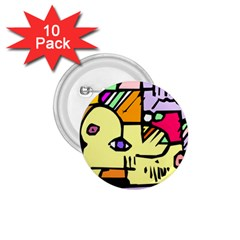 Fighting The Fog 1 75  Button (10 Pack) by FunWithFibro