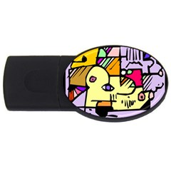 Fighting The Fog 2gb Usb Flash Drive (oval) by FunWithFibro