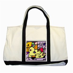 Fighting The Fog Two Toned Tote Bag by FunWithFibro