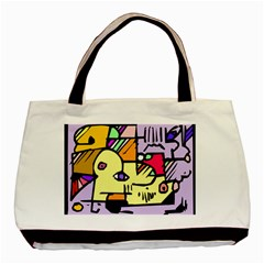 Fighting The Fog Twin Sided Black Tote Bag