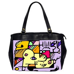 Fighting The Fog Oversize Office Handbag (Two Sides) by FunWithFibro