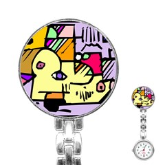 Fighting The Fog Stainless Steel Nurses Watch by FunWithFibro