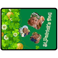 St Patrick s Day By Divad Brown   Double Sided Fleece Blanket (large)   924rpx2o5co8   Www Artscow Com 80 x60 Blanket Back