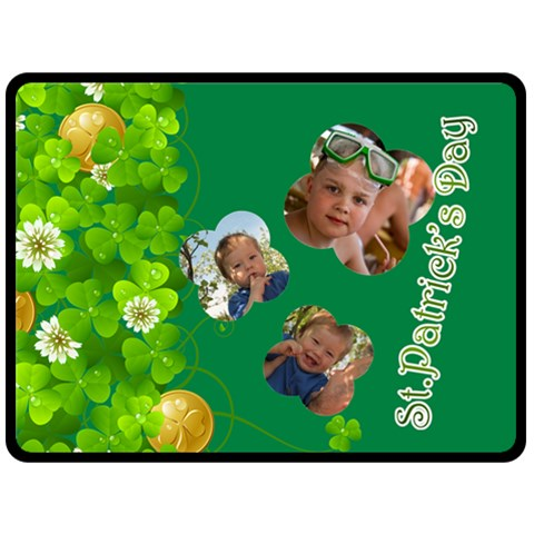 St Patrick s Day By Divad Brown   Fleece Blanket (large)   Yk0no9u77288   Www Artscow Com 80 x60 Blanket Front