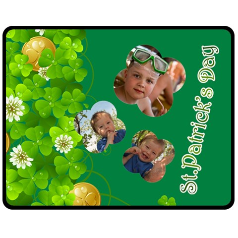 St Patrick s Day By Divad Brown   Fleece Blanket (medium)   Fuw0yn8lws5m   Www Artscow Com 60 x50 Blanket Front
