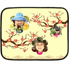 Flower By Divad Brown   Double Sided Fleece Blanket (mini)   12lnx4d8swro   Www Artscow Com 35 x27 Blanket Front