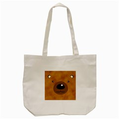 Bear By Divad Brown   Tote Bag (cream)   1ukw7yj658fc   Www Artscow Com Front