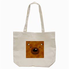 Bear By Divad Brown   Tote Bag (cream)   1ukw7yj658fc   Www Artscow Com Back