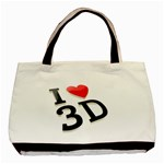 I love 3D - Basic Tote Bag (Two Sides)