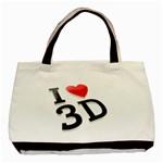 I love 3D - Basic Tote Bag (Two Sides)