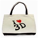 I love 3D - Basic Tote Bag