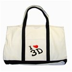 I love 3D - Two Tone Tote Bag