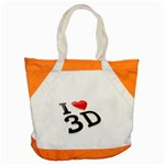 I love 3D - Accent Tote Bag