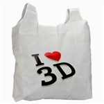 I love 3D - Recycle Bag (One Side)