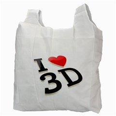 I Love 3d By Divad Brown   Recycle Bag (two Side)   Dt9v9awr0900   Www Artscow Com Back